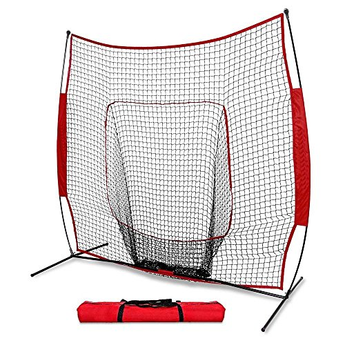 DAILY FITNESS 7×7 Portable Baseball And Softball Practice Net ,Pitch Net, Hitting Net by DAILY FITNESS