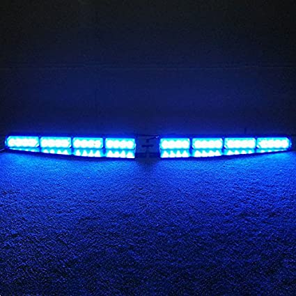Amazon vsled 2 16 led 32 watt blue led light car truck vsled 2 16 led 32 watt blue led light car truck emergency beacon light bar aloadofball Image collections