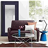 Multifunctional and Comfortable 54 Loveseat Sleeper with Pull Out Twin Size Coil Mattress, Black Finish, Ideal for Any Room in Your Home, Converts Easily, Perfect Space Saver + Expert Guide