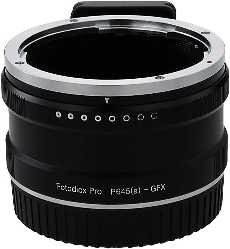 C645 Fotodiox Pro Lens Mount Adapter Contax 645 Mount Lens to G-Mount GFX Mirrorless Camera