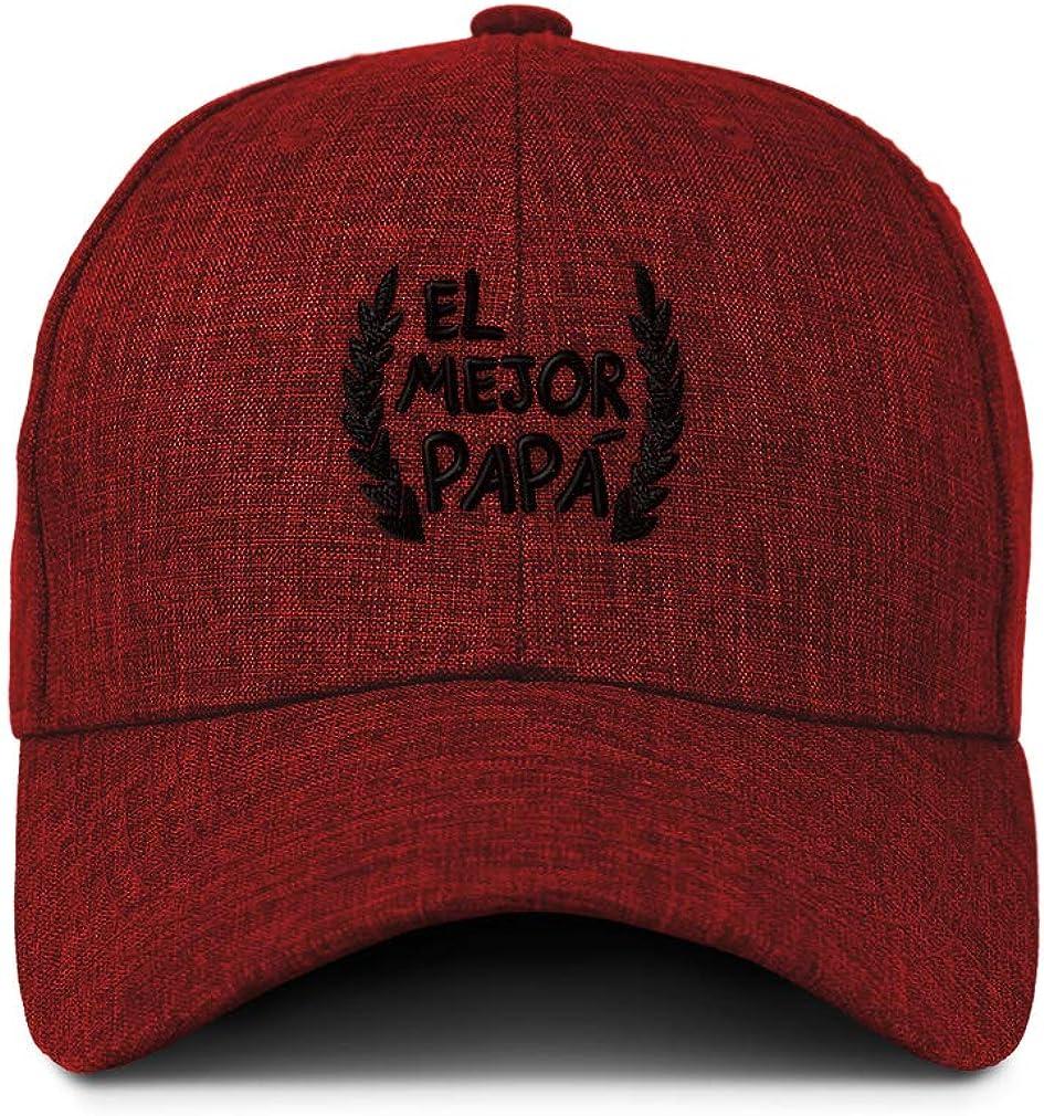 Custom Baseball Cap El Mejor Papa Laurel Frame A Embroidery Acrylic