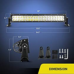 "Nilight 22"" 120w LED Light Bar Flood Spot Com"