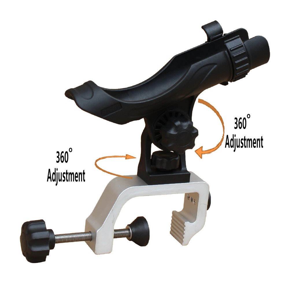 Brocraft Power Lock Fully Adjustable Rod Holder with Aluminum Large Opening Clamp