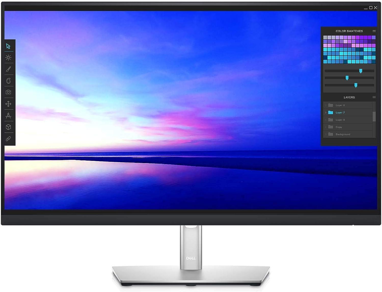 Dell P2721Q 27 Inch 4K FHD, IP Ultra-Thin Bezel Monitor, USB-C, HDMI, DisplayPort, VESA Certified, Silver, Gray