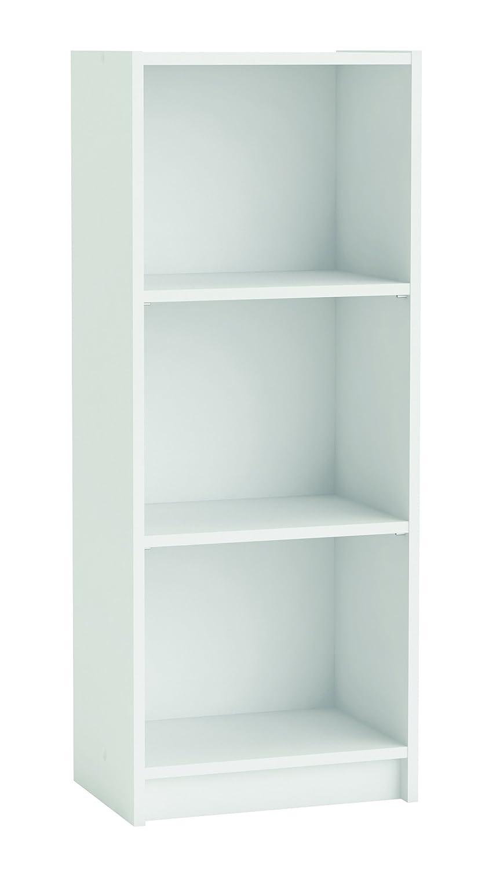 Demeyere 2-Shelf Bookcase Width:40CM Blanco Wood Pearl White 39.8x26.8x99.6 cm