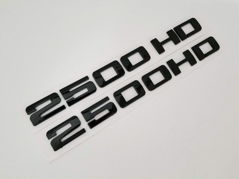 Black 2pcs Sierra Nameplates Plastic Letter Emblem Badge Glossy Replacement for Gm 2500HD 3500HD Sierra /…