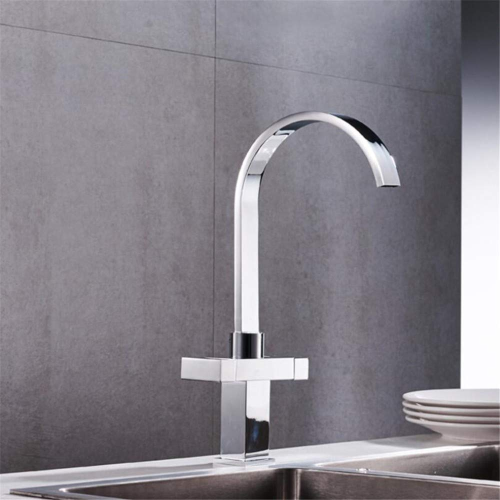 Bathroom Sink Basin Lever Mixer Tap Double-Handled redary Faucet Kitchen Hot and Cold Water Faucet Sink Faucet