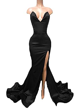 TbDesses Womens Sexy Mermaid Prom Dress Sweetheart Long Split Evening Gowns Plus Size