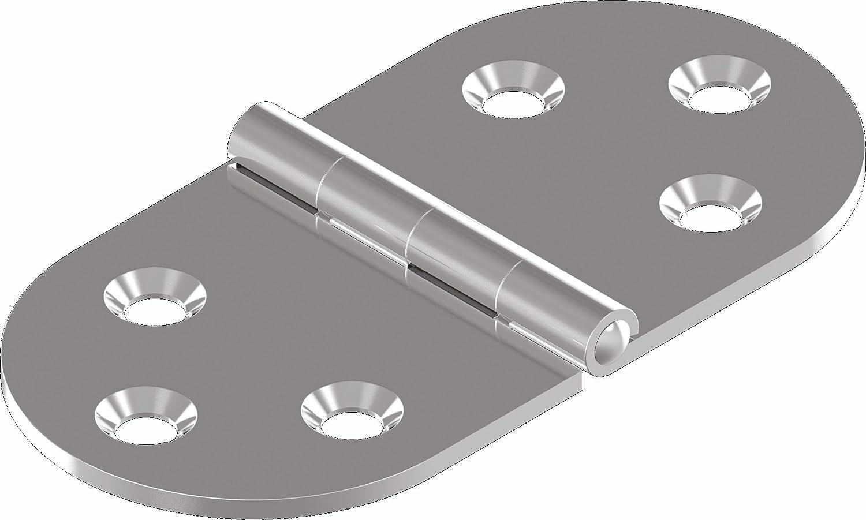 Scharnier Edelstahl A2 gestanzt 80 x 40 ARBO-INOX