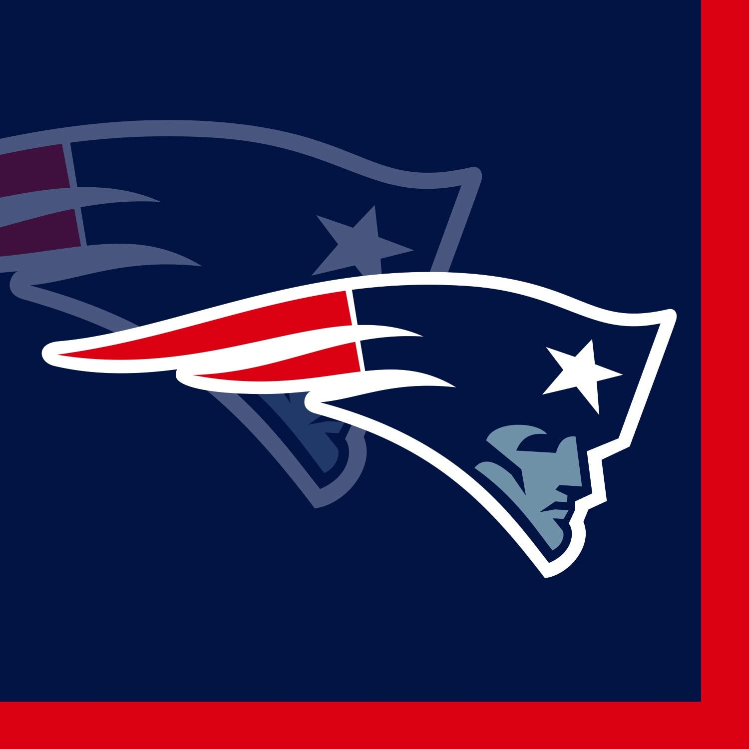 Creative Converting 16 Count New England Patriots Beverage Napkins - 650519
