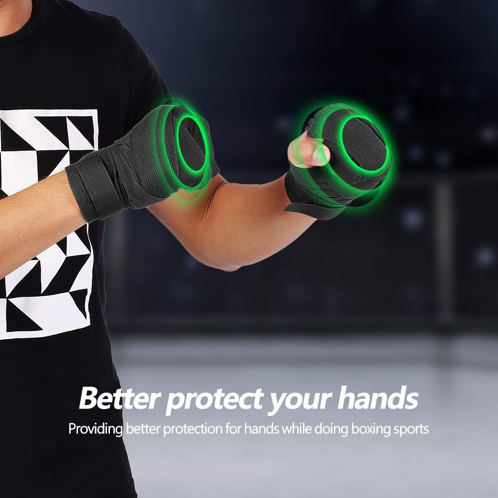 Ponacat Hand Wraps Protector Bandages 1 Pair Elastic Hand Wrap Bandages Punching Handwrap Protector Men WomenElastic Hand and Wrist Support for Boxing
