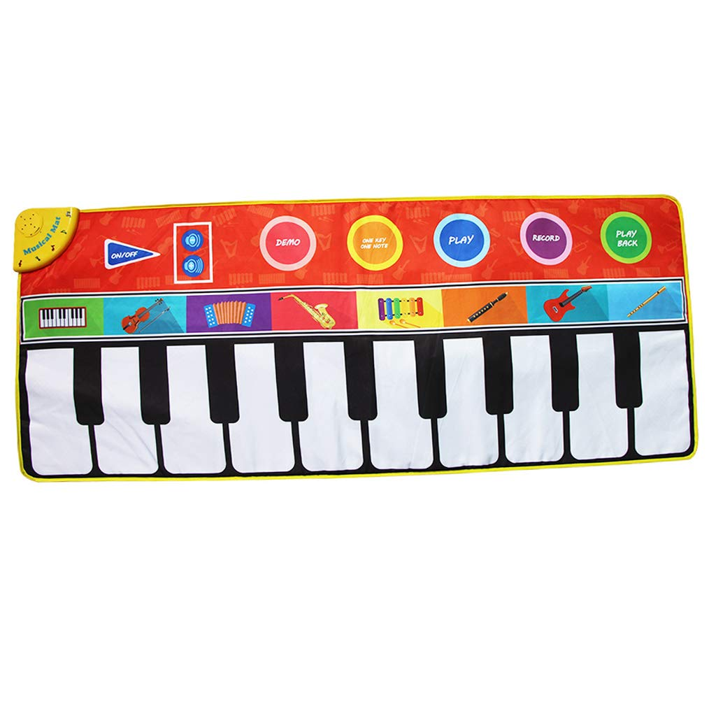 Toygogo Musical Music Piano Play Baby Mat Animal Educational Mat 148x60cm by Toygogo (Image #1)