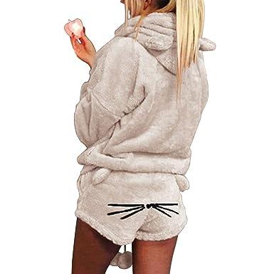Filles Femmes Pyjamas Ensembles De Vêtements Douces Meow Direct Hiver Salon Peignoir Mignonne Xingyue Chat Nuit Shorts 2pcs KJ1c3TlF