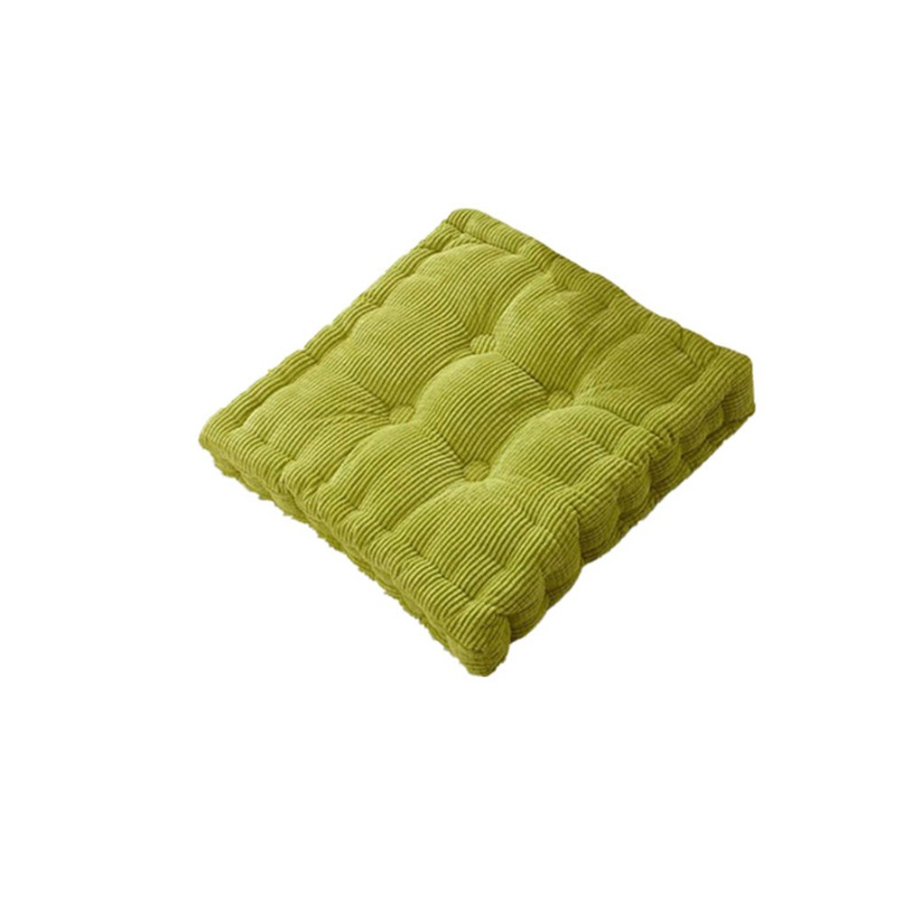 ASO-SLING Thickened Square Tatami Cushion Office Chair Mat The Classroom Stereo Plush Dining Chair Mats Soft Car Cushions, 15.75 x 15.75 x 3.94 Inches