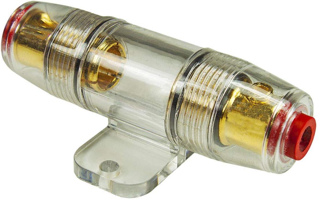 Tomzz Audio 5800 005 Agu Sicherungshalter Transparent Kabel Bis 25qmm Vergoldet 60a Sicherung