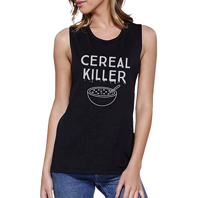 4349e5e4981f1 365 Printing Cereal Killer Funny Halloween Shirt Womens Cute Graphic Muscle  Top