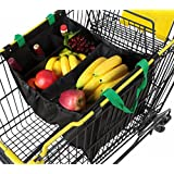 Reusable Grocery Produce Bags Grab and Go Insulated Trolley Shopping Cart Bag with Bottle Sleeves Eco Friendly Tote
