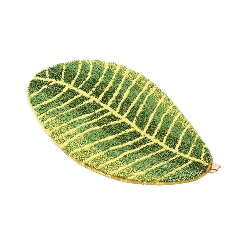 Biback Green Leaf Shaped - Tappetino Antiscivolo, Lato di partenza, Ein, Small