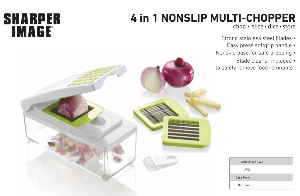 Amazoncom Sharper Image 4 In 1 Non Slip Chopper Kitchen Dining