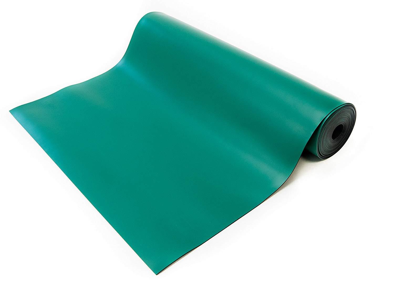 Bertech ESD High Temperature Rubber Mat Roll, 3' Wide x 25' Long x 0.08'' Thick, Green