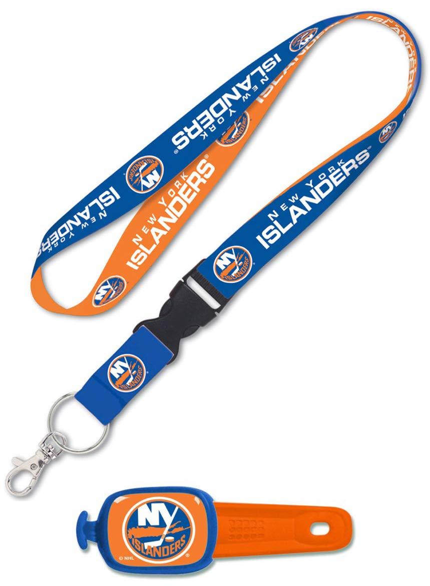 WinCraft Bundle 2 Items: NHL New York Islanders 1 Premium Lanyard and 1 Stwrap Bag Id