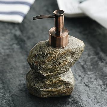 Botella de jabón líquido - Emulsionante - Botella de champú de cerámica retro creativa de cerámica