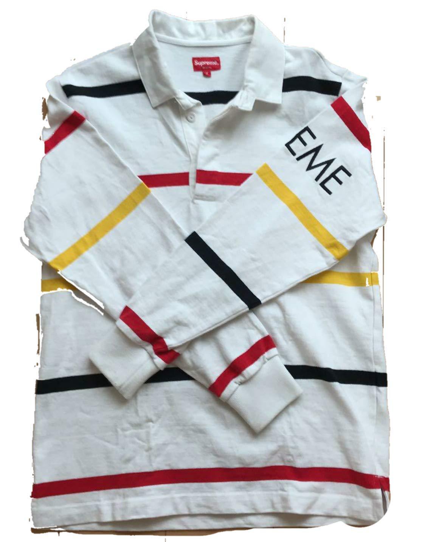 シュプリーム supreme ラグビーシャツ ラガーシャツ
