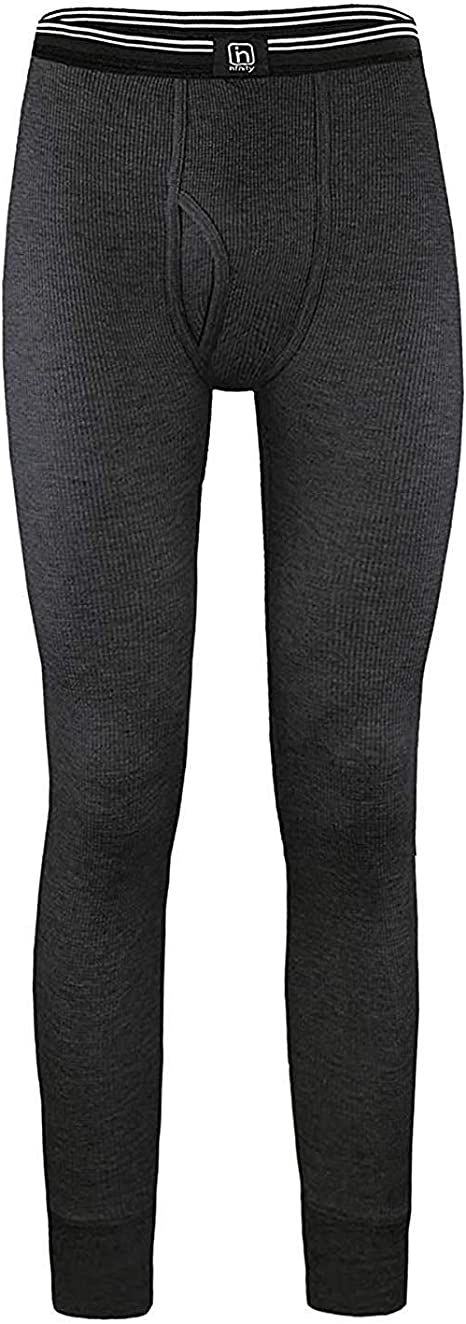 Mens Long Johns Underwear Pants Warm Thermal Bottoms Waffle Trousers Size S-2XL