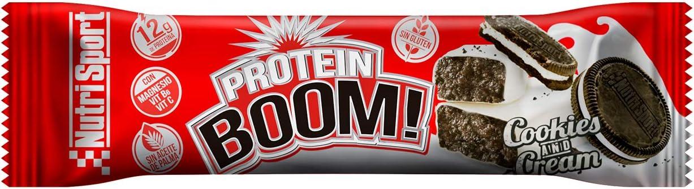 Nutrisport – Barritas Proteicas para Deportistas, Sabor Cookies & Cream, Caja de 24 Barritas, 24x49 gr