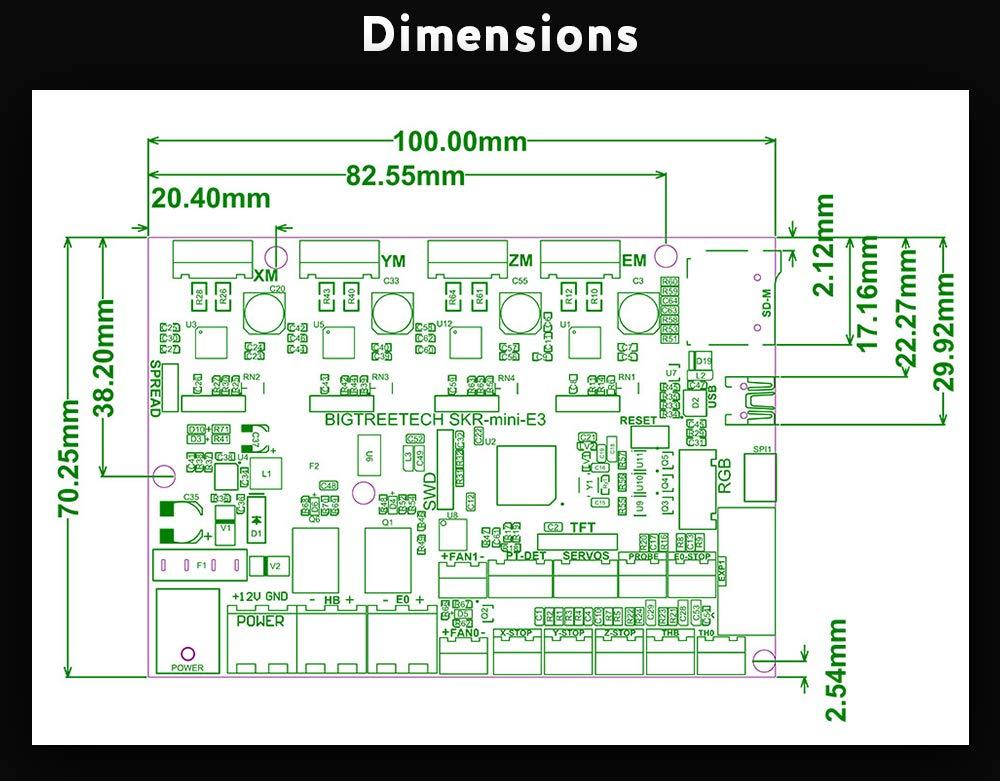 Placa de control con controlador TMC2209 UART para impresora 3D Cheetah V1.0 para Creality Ender 3 BIGTREETECH SKR Mini E3