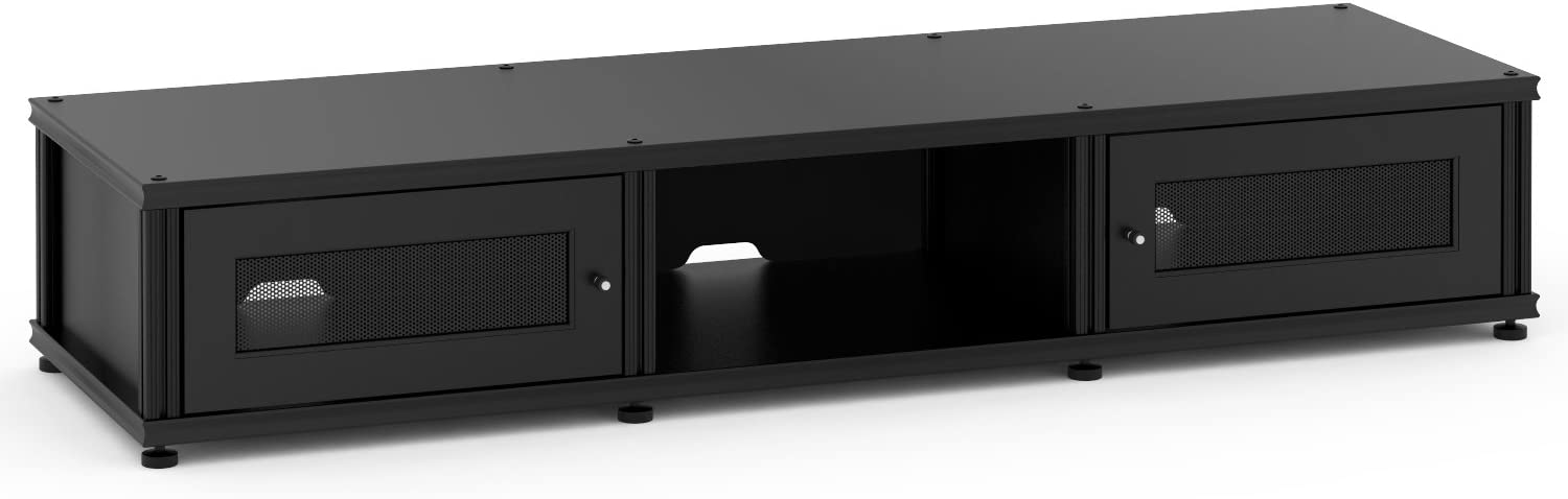 Salamander Designs Synergy Triple Wide A/V Cabinet with Two Doors and Open Center