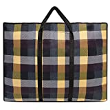 Vintga Non-woven Moving Bag Quilts Luggage bag Large Heavy Duty Foldable Reusable Laundry Storage Bags with Zipper and Handles (Type1 Yellow)