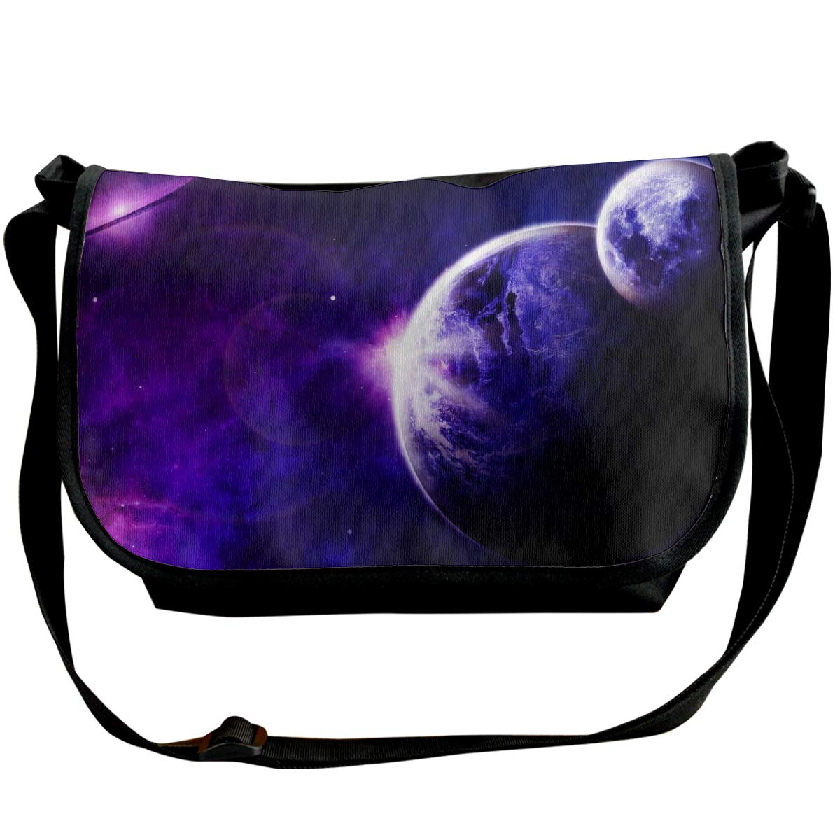 Taslilye Space Planet Astronomy Galaxy Universe Personalized Wide Crossbody Shoulder Bag For Men And Women For Daily Work Or Travel