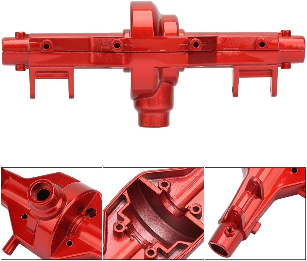 Aluminium Alloy Front//Rear Axle Housing Upgrade Parts Compatible with SCX10 1//10 RC Rock Truck Red RC Truck Axle Housing Set