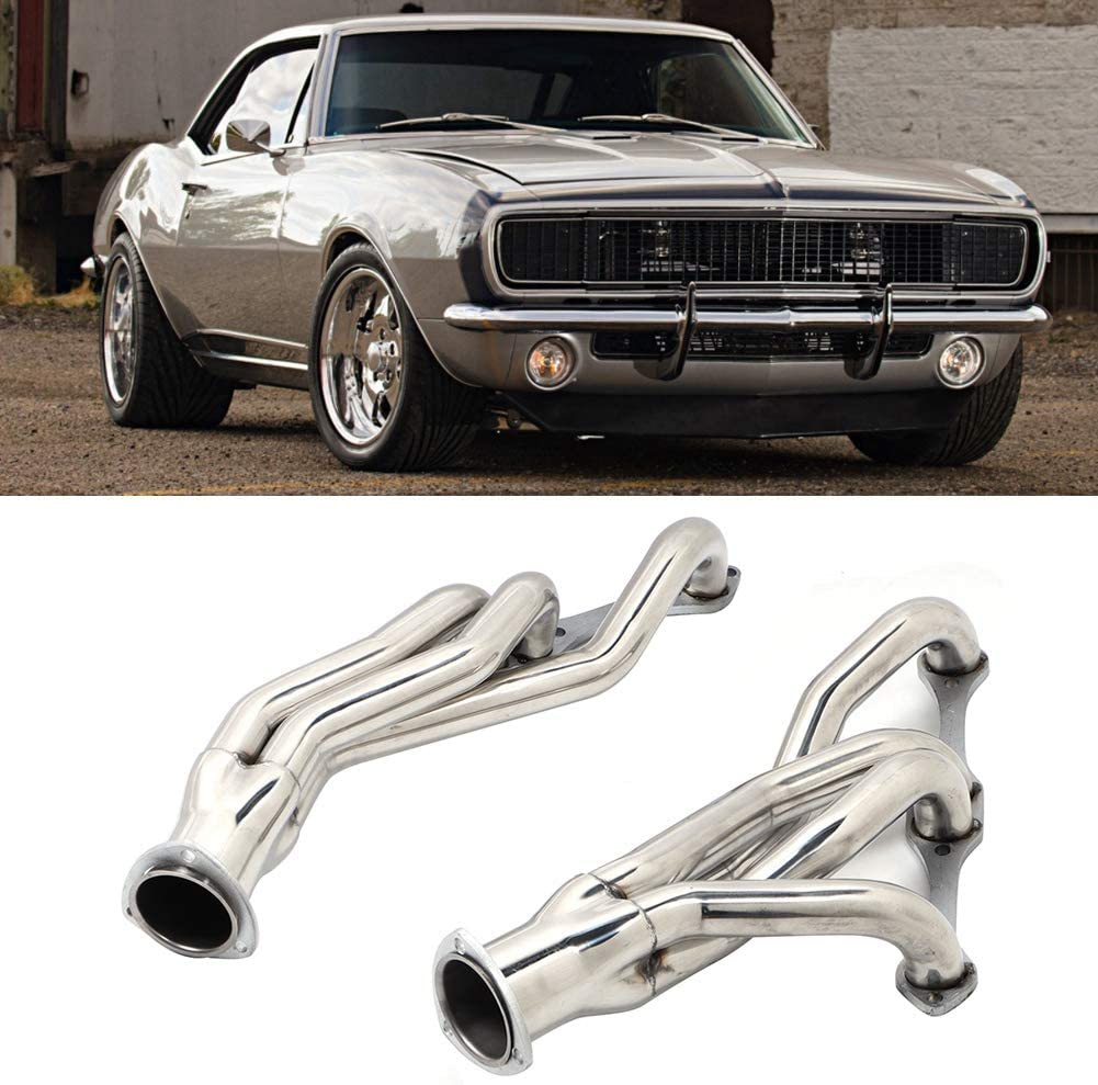 Stainless Steel Exhaust Header Manifold Accessory Fits for Chevy Camaro 67-81 Exhaust Manifold Fit for Chevy