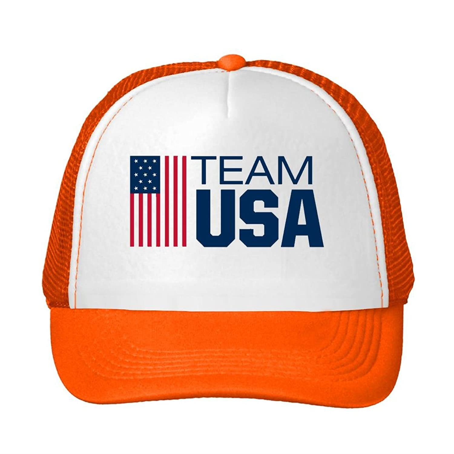HE TEAM USA Flag Adjustable Breathable Mesh Caps Sun Hats