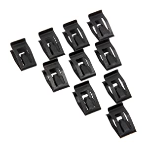 Mtsooning 10 Pcs Universal Auto Car Front Console Dash Dashboard Trim Metal Retainer Black