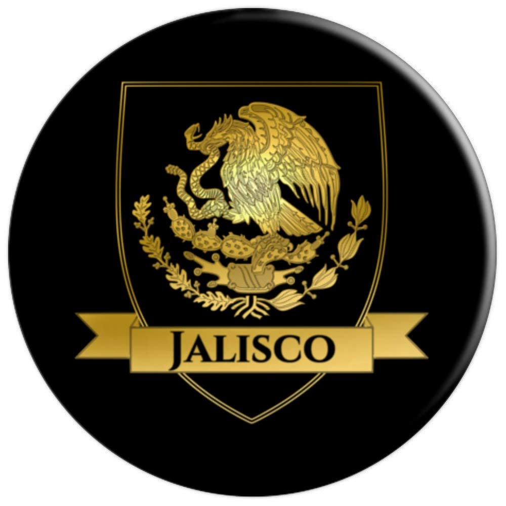 Amazon.com: Gold Jalisco México Crest - PopSockets Grip and ...