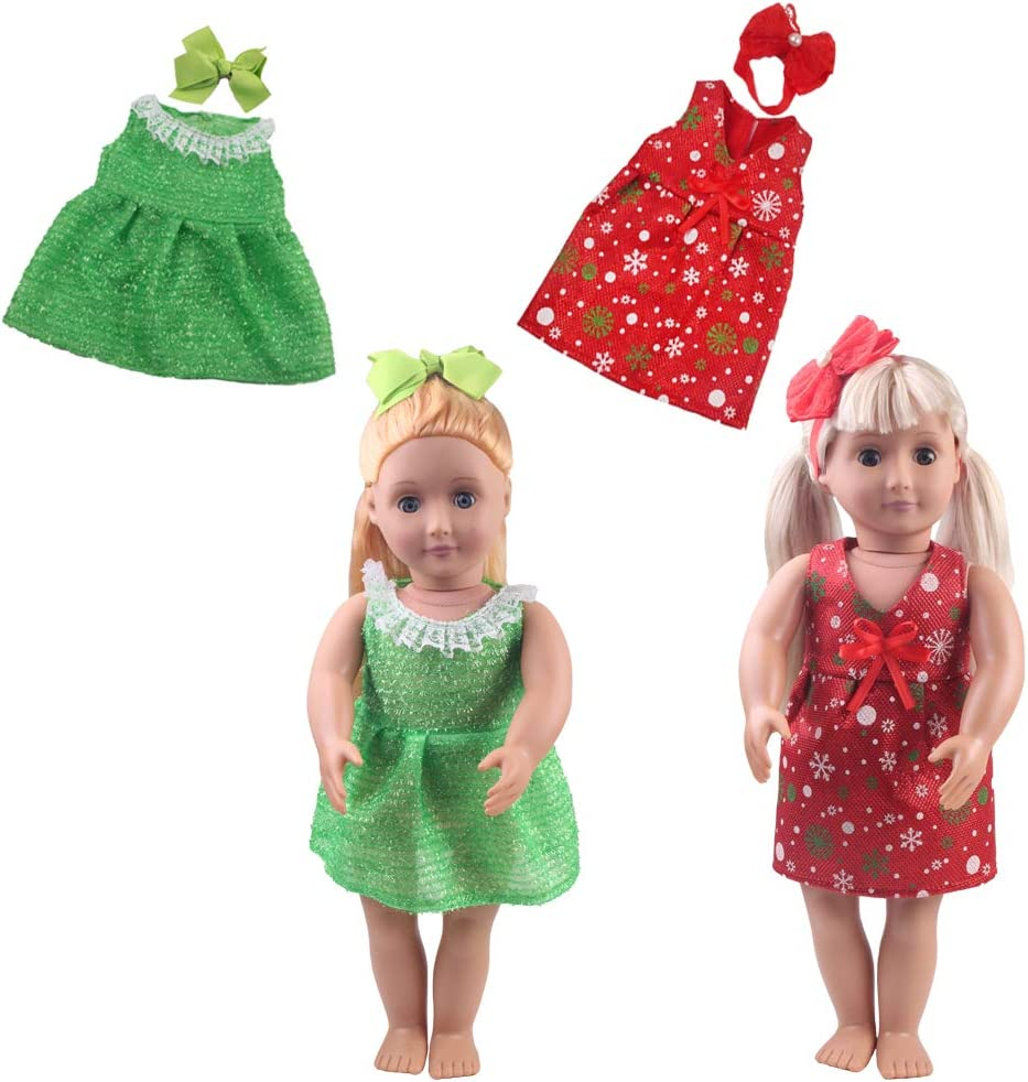 4 Headdresses for American Girl Dolls TSQSZ 18-inch Doll Clothes Girl Gift-Includes 8 Doll Sets