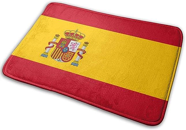 SESILY - Felpudos de Color Amarillo con diseño de Icono Rojo de la Bandera española: Amazon.es: Hogar