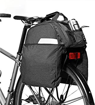 PORTAEQUIPAJES Bolsa Alforja Trasera Bicicleta, 11L Bolsa de Maleta de Bicicleta 300D PoliéSter Bolsas de Bicicleta A Prueba de Agua Bolsa de Troncal de Bicicleta Multifuncional: Amazon.es: Deportes y aire libre