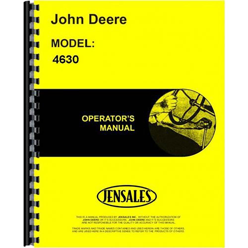 Amazon.com: New Operators Manual For John Deere 4630 Tractor: Industrial &  Scientific