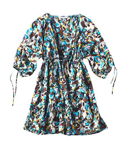 Túnica Mujer turquesa Diane Opaco Furstenberg Von Camisas Para Marrón tYtqB7Tw