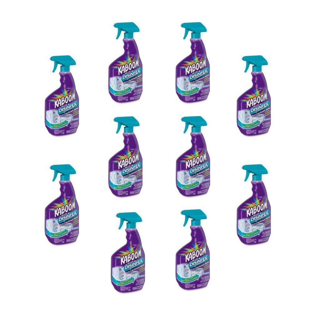 Kaboom Plus Disinfex Fresh Scent 3-in-1 Bathroom Spray, 30 fl oz (10) by Kaboom (Image #1)