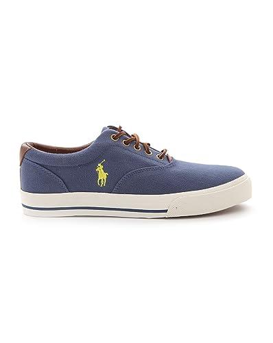 6532232ed96dc7 POLO Ralph Lauren - Baskets - Homme - Baskets en toile bleu marine Vaughn -  40