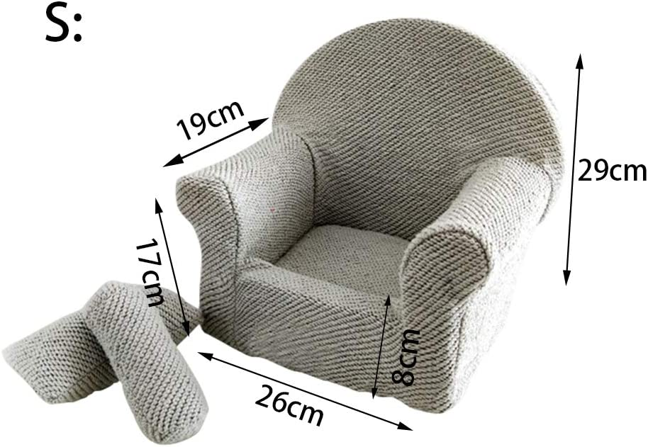 Baby Sofa for Photography Newborn Baby Photo Props Sofa Chair Beds Posing Mini Sofa with 2 Cushion for 0-3 Months Babies