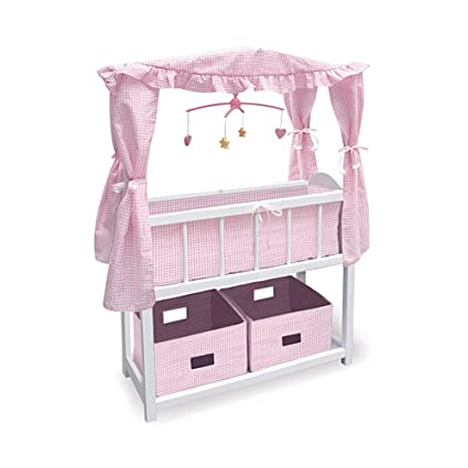 Amazon Com Baby Doll Crib With Canopy Baby Doll Accessories By