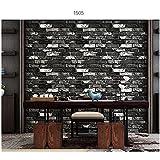 Rollo de papel tapiz 3D Papel tapiz de ladrillo rústico Decorar la pared interior o ventanas, dormitorio, oficina, dormitorio, tienda (rojo, marrón, gris) (53 * 1000 cm) ( Color : 1505 )