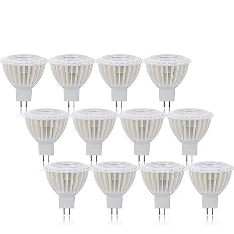 Ossun MR16 GU5.3 - Bombillas LED (12 unidades, luz blanca cálida,