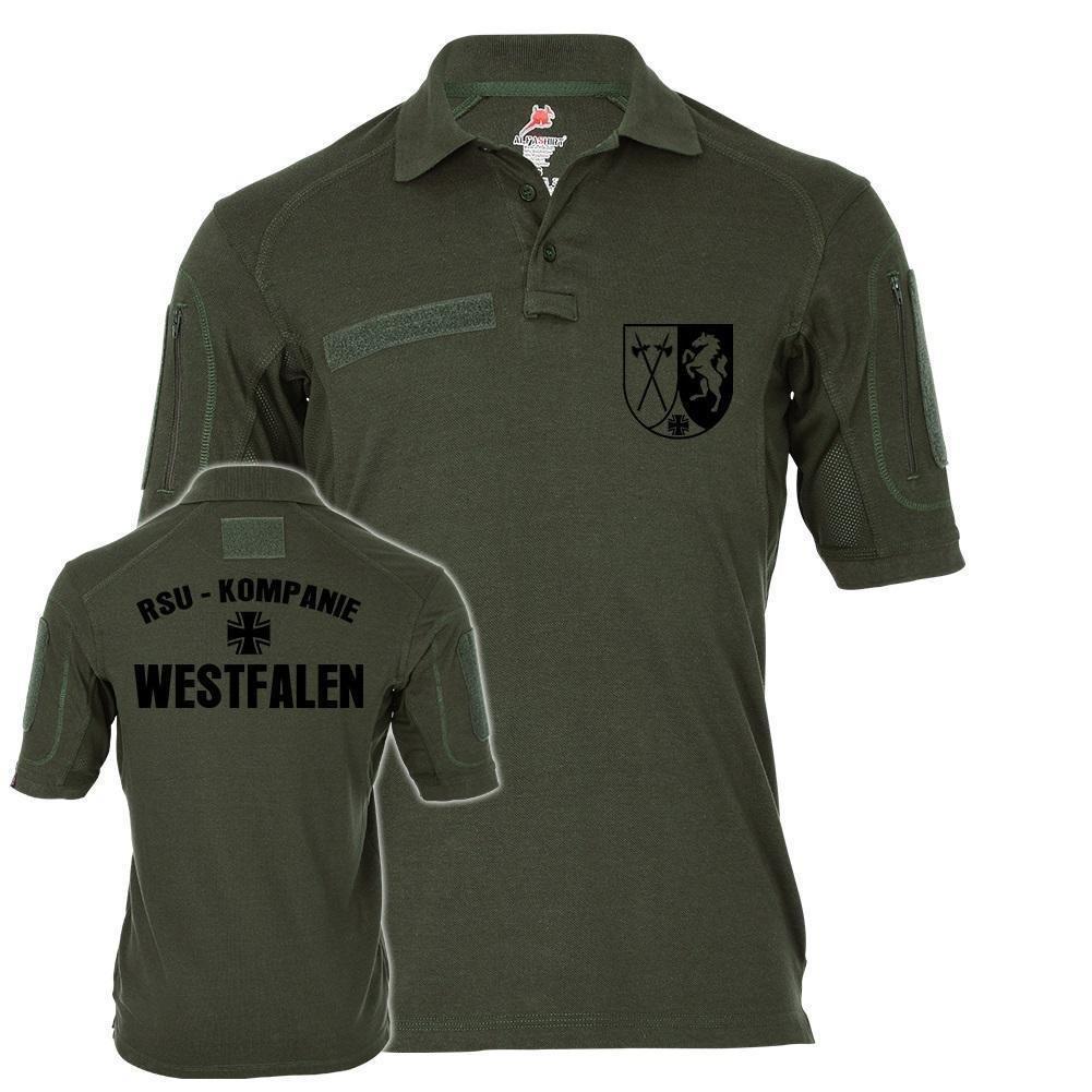 Tactical Poloshirt Alfa - RSU Kompanie Westfalen Wappen Dienst Hemd Regionale Sicherungs- und Unterstützungskräfte  19053